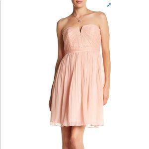J.Crew- Nadia Silk Chiffon Dress in Misty Rose